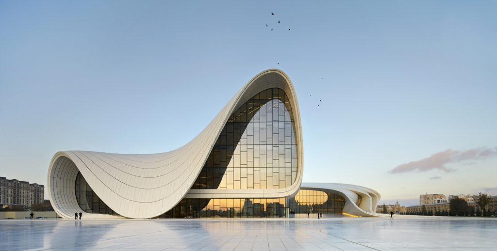 Heydar Aliyev Center. Image Hufton+Crow