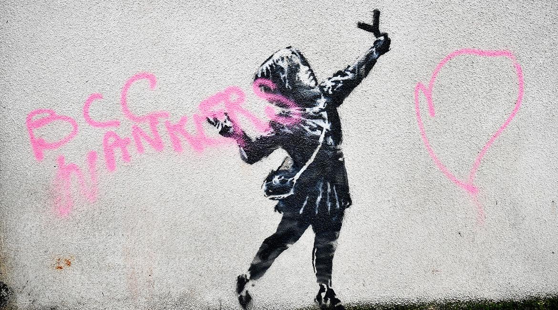 O Banksy τελικά χάρηκε που κάποιος βανδάλισε το νέο του mural