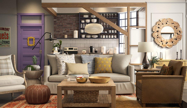 Μία ομάδα interior designers μάς δείχνει πώς θα έμοιαζαν σήμερα τα διαμερίσματα στα Φιλαράκια