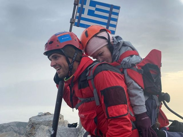 Ο Μάριος Γιαννάκου και η Ελευθερία Τόσιου φτάνουν στην κορυφή του Ολύμπου
